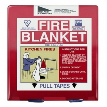 FIRE BLANKET RED 1.1M SQ